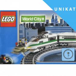 LEGO WORLD CITY 4511 POCIĄG OSOBOWY 9V UNIKAT
