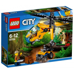 LEGO CITY 60158 DŻUNGLA HELIKOPTER TRANSPORTOWY