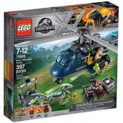 LEGO JURASSIC WORLD 75928 POŚCIG NIEBIESKIM HELIKOPTEREM