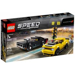 LEGO SPEED CHAMPIONS 75893 2018 DODGE CHALLENGER SRT DEMON ORAZ 1970 DODGE CHARGER R/T